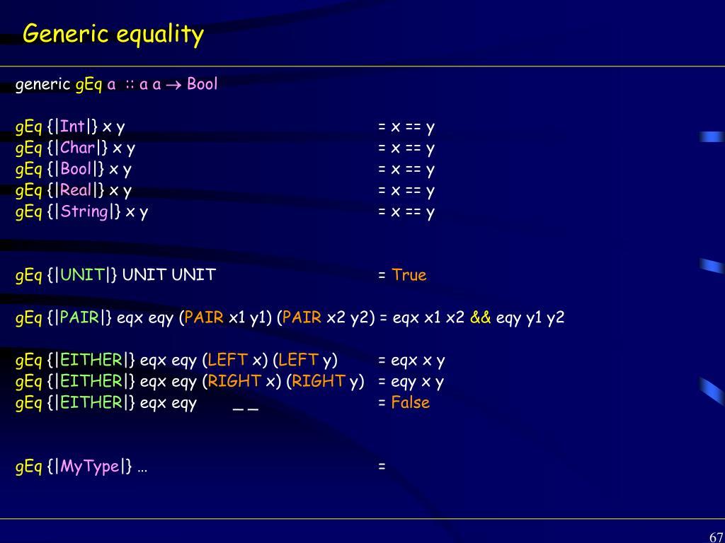 Generic equality