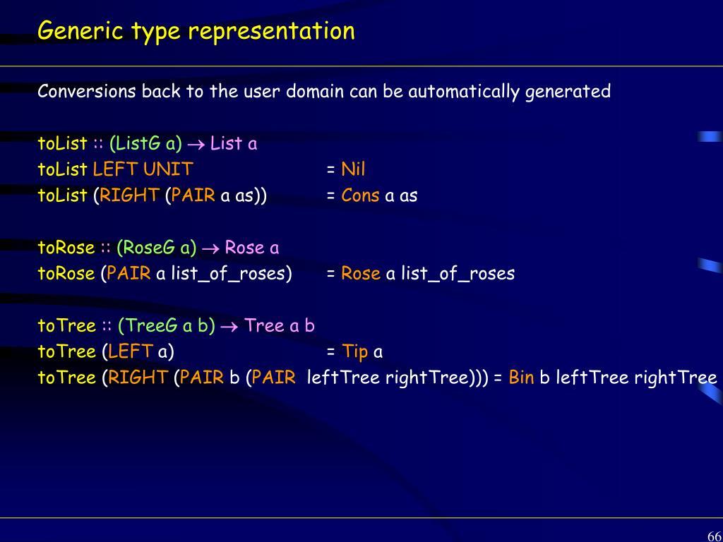 Generic type representation