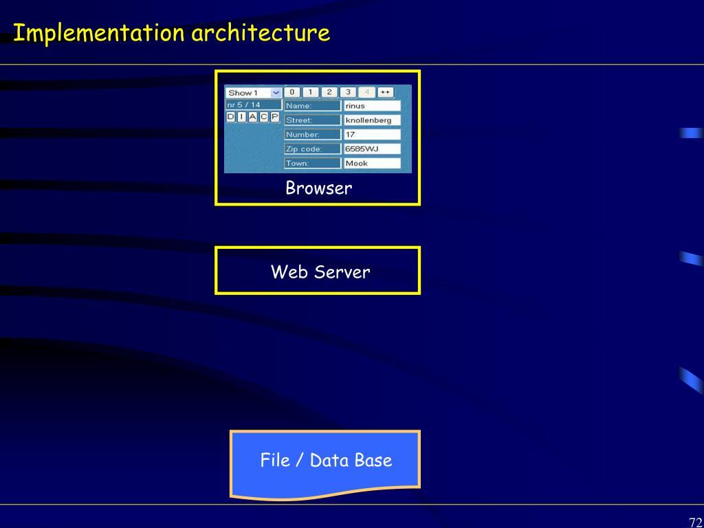 Implementation architecture
