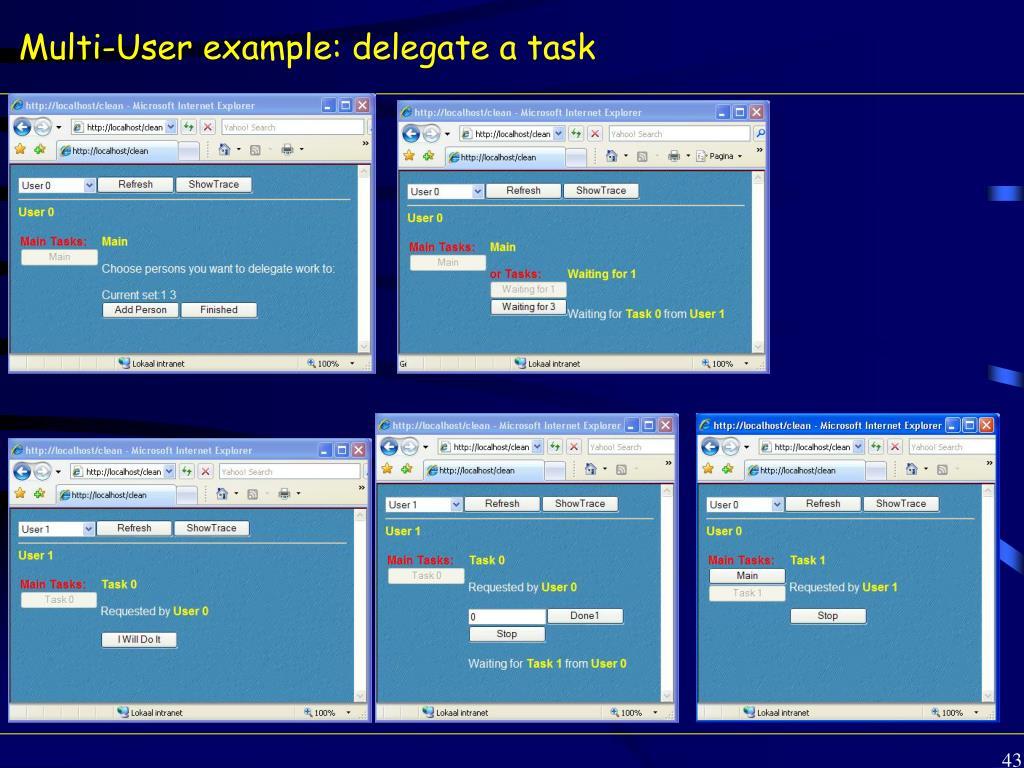 Multi-User example: delegate a task