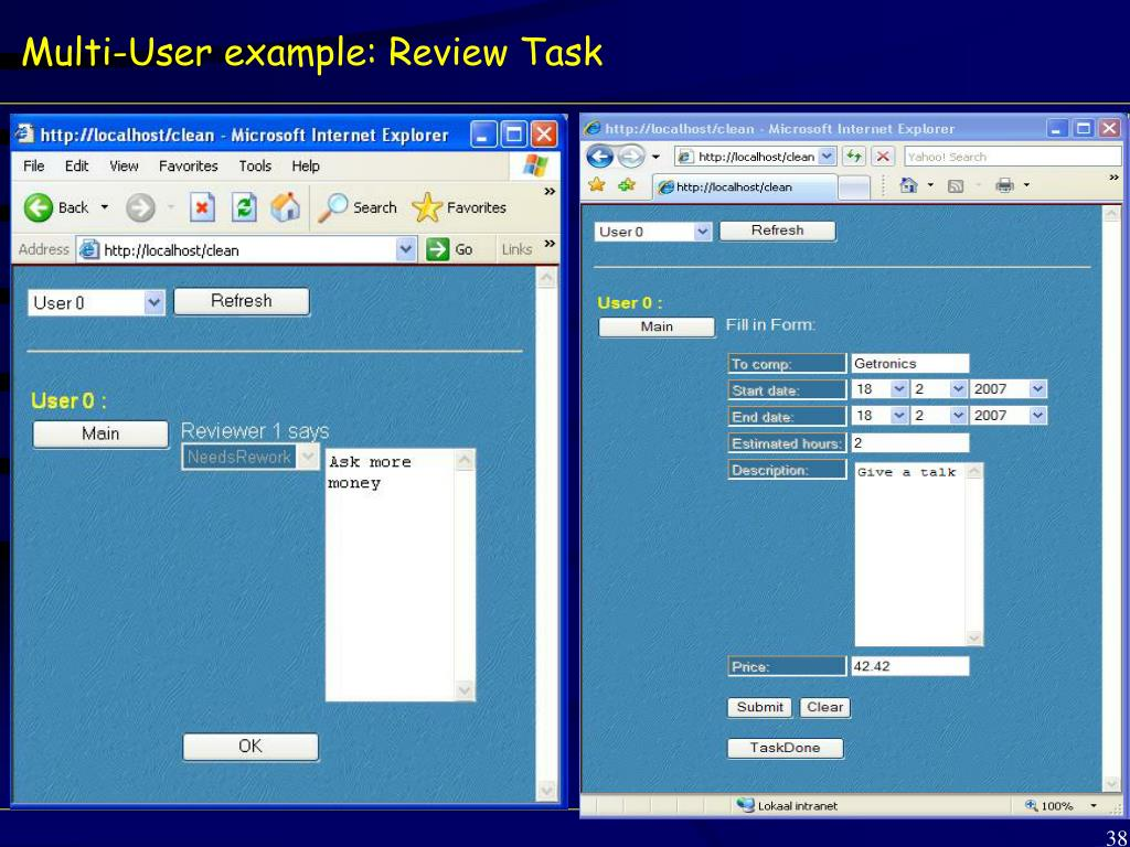 Multi-User example: Review Task