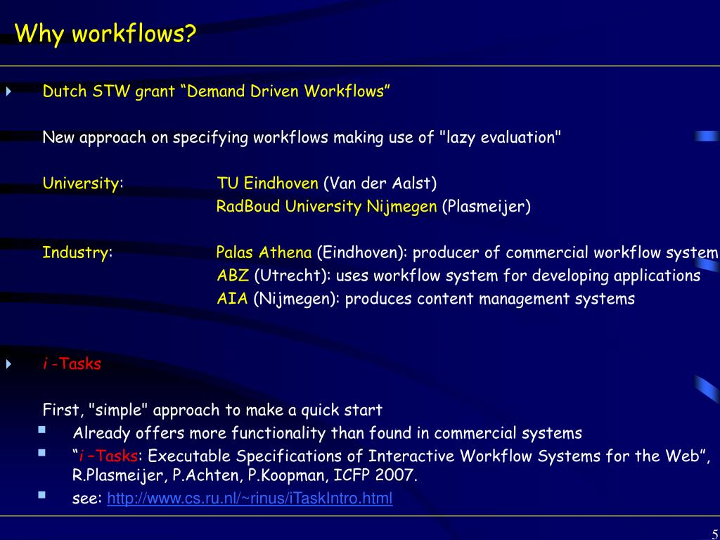 Why workflows?