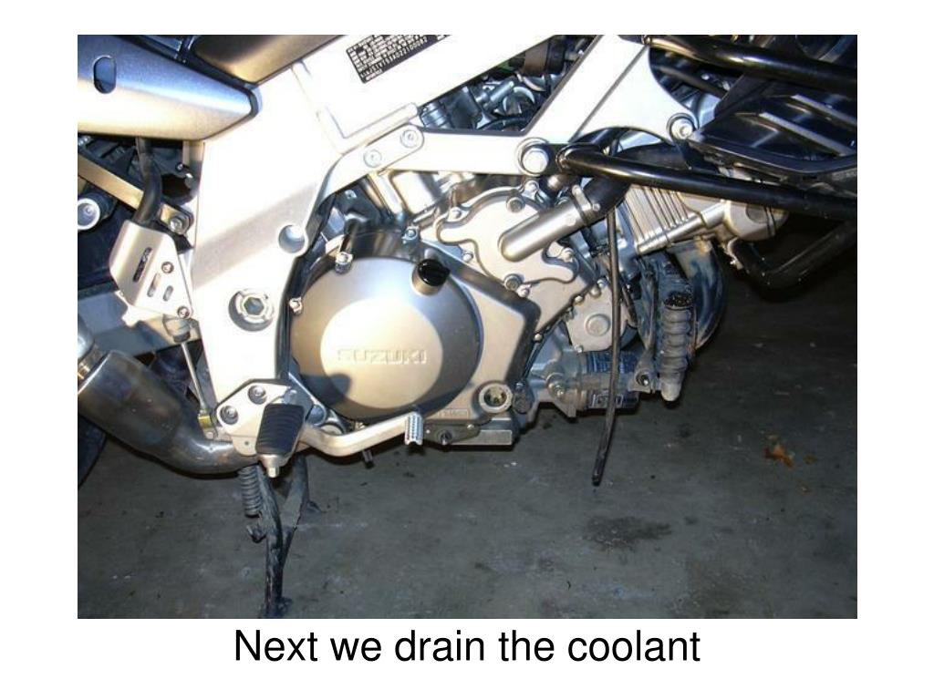 Next we drain the coolant