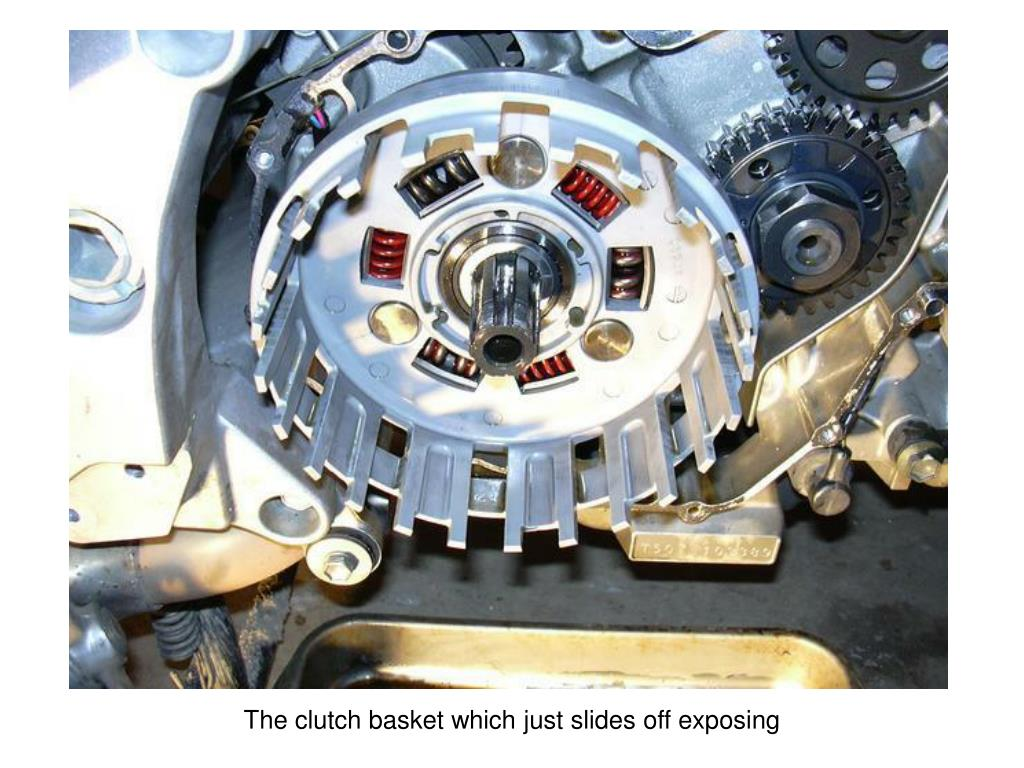 The clutch basket which just slides off exposing