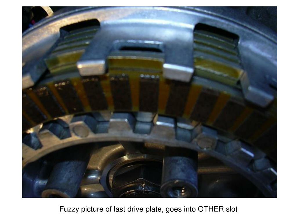 Fuzzy picture of last drive plate, goes into OTHER slot