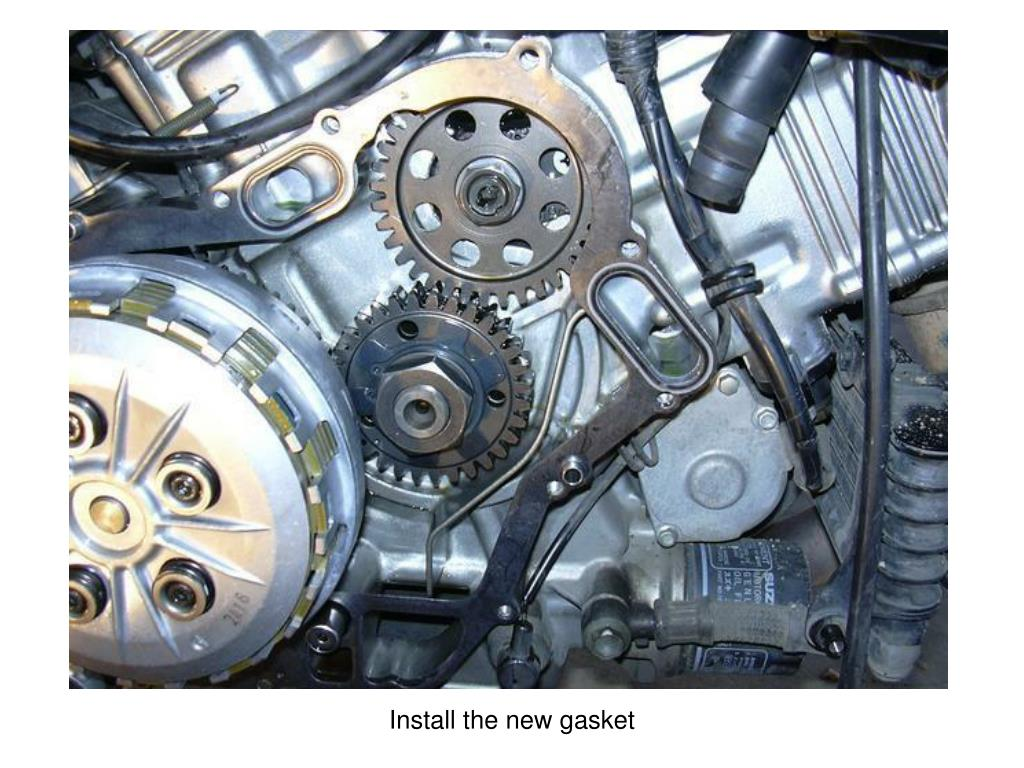 Install the new gasket