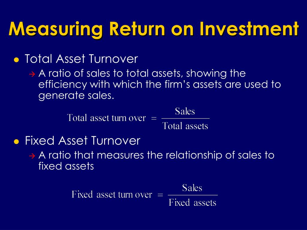 Measuring Return on Investment