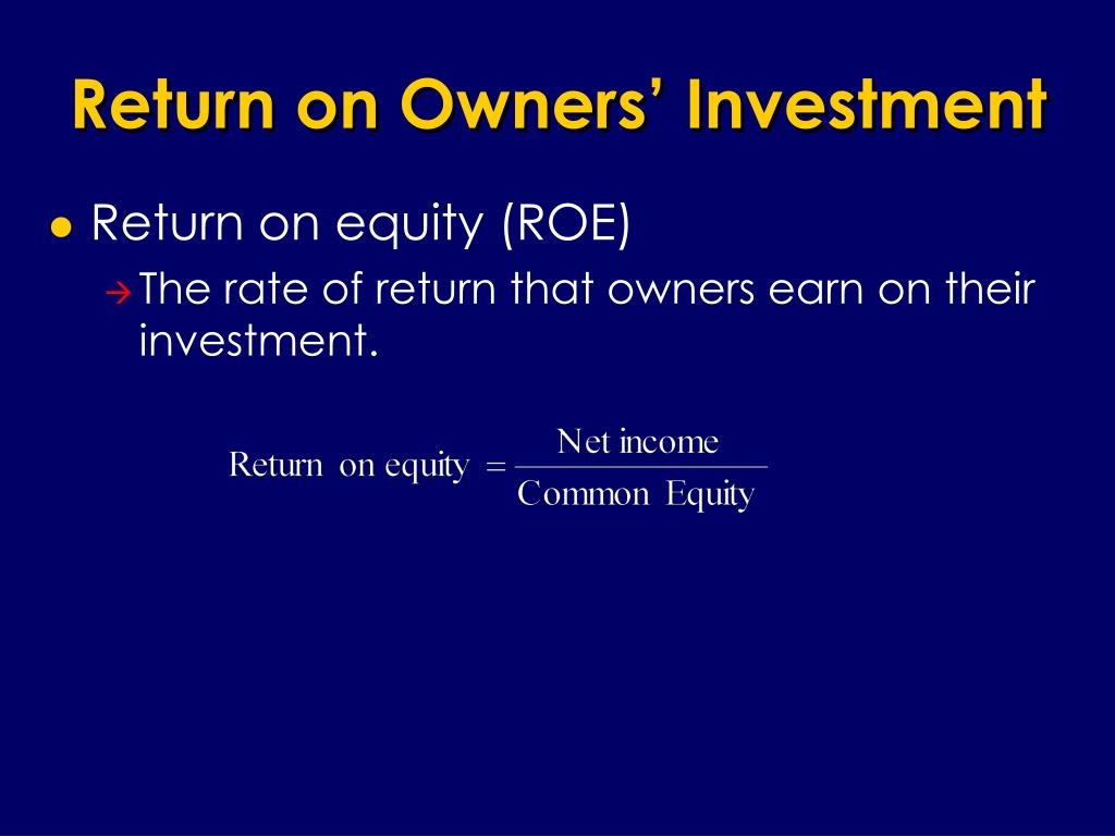 Return on Owners' Investment