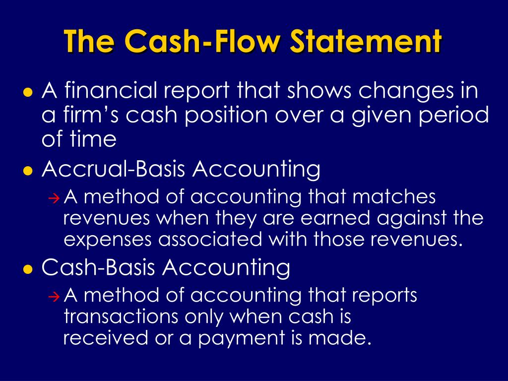 The Cash-Flow Statement