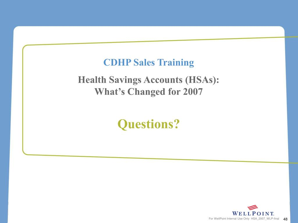 CDHP Sales Training