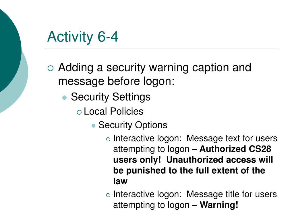 Activity 6-4