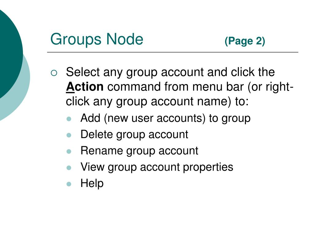 Groups Node