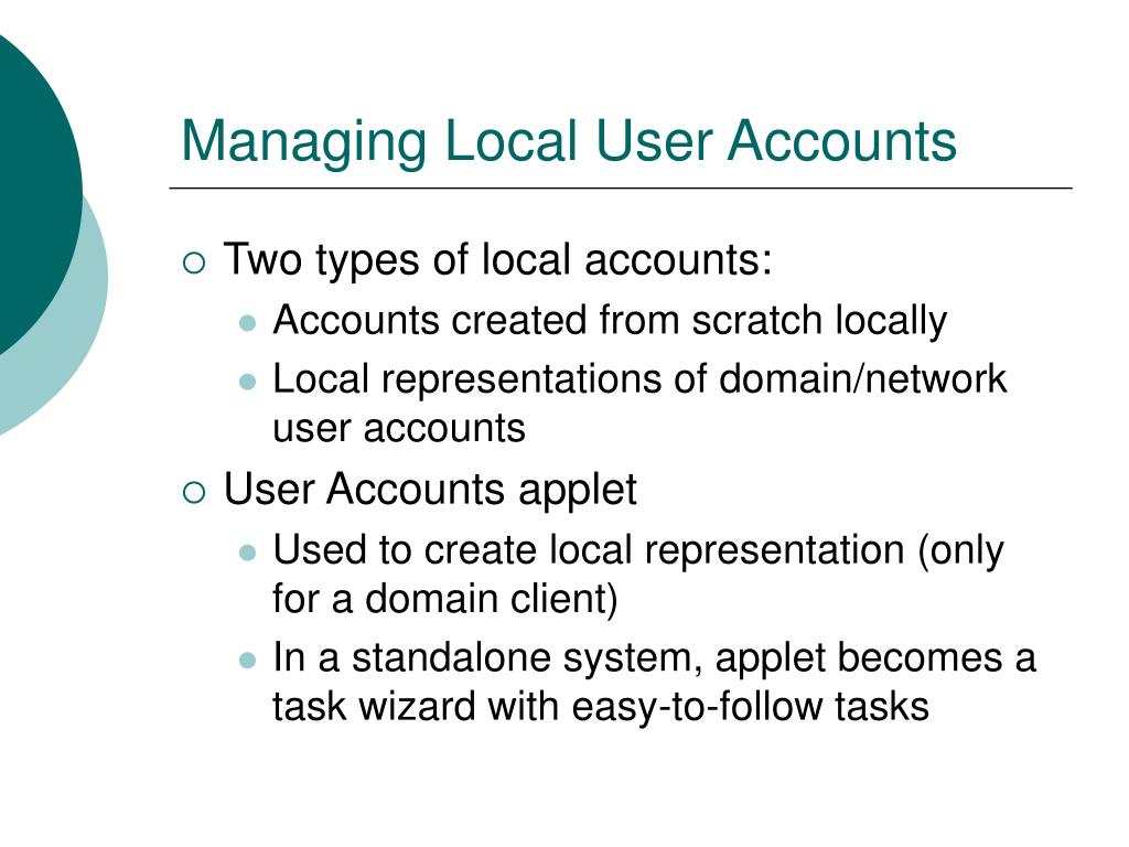 Managing Local User Accounts