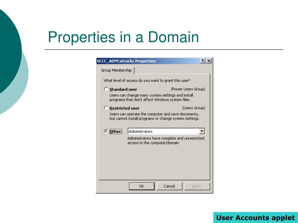 Properties in a Domain