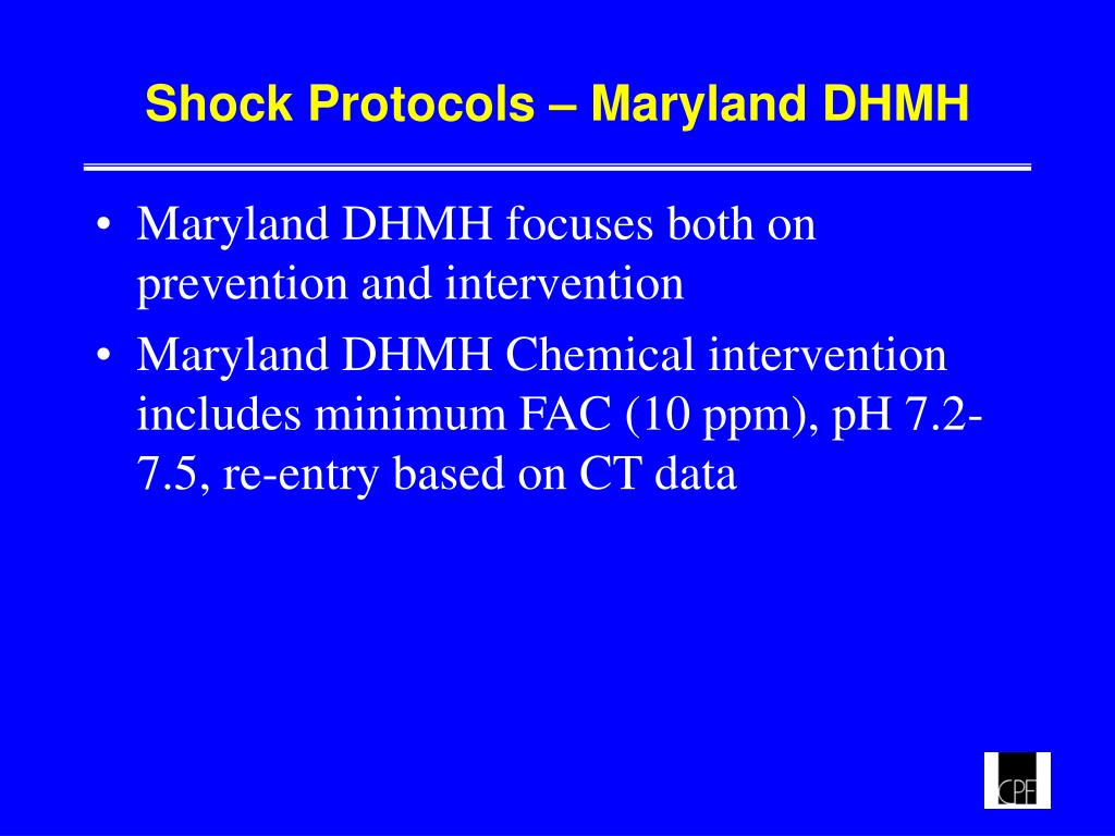 Shock Protocols – Maryland DHMH