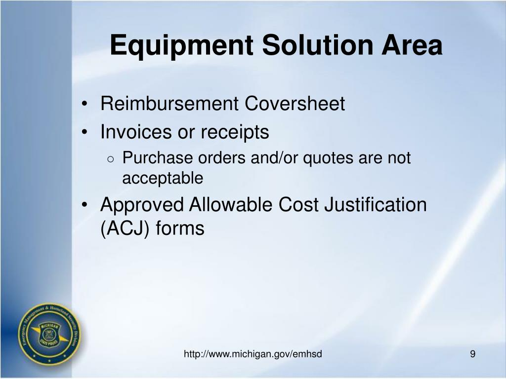 Equipment Solution Area