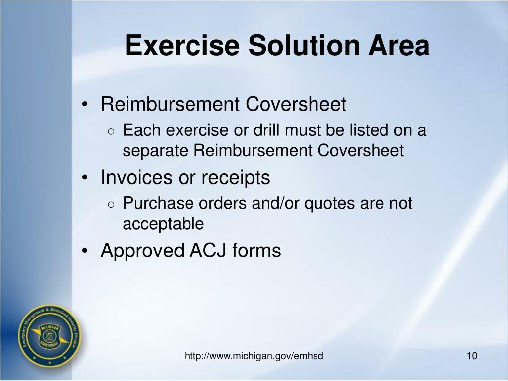 Exercise Solution Area