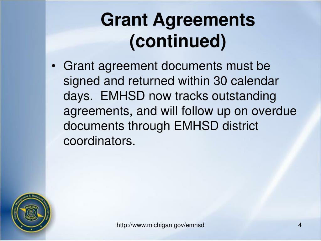 Grant Agreements (continued)