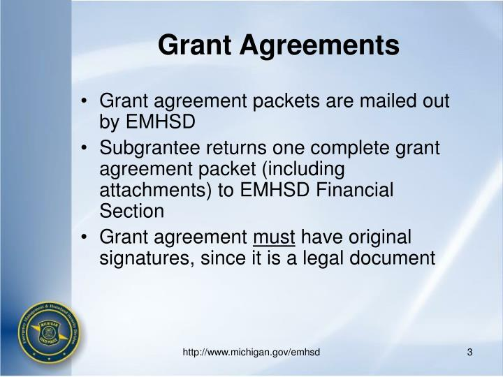 Grant agreements