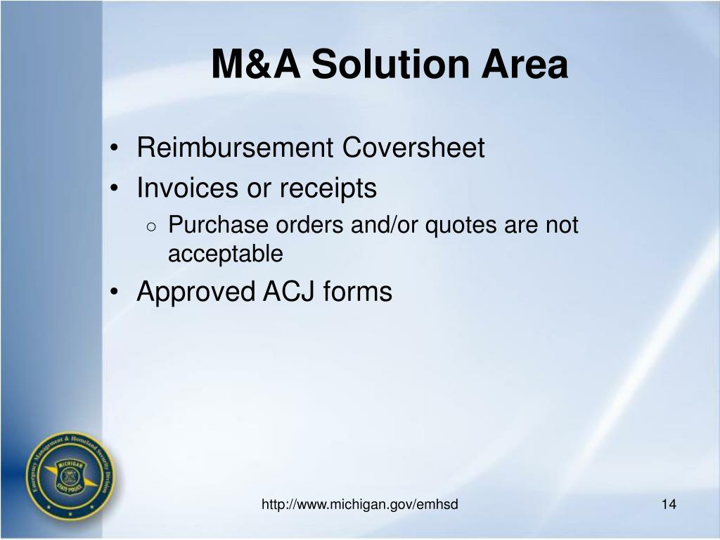 M&A Solution Area