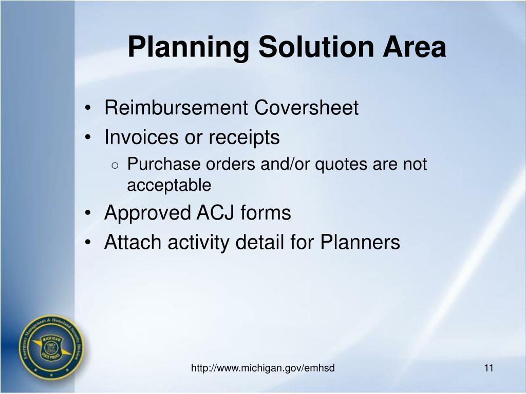 Planning Solution Area