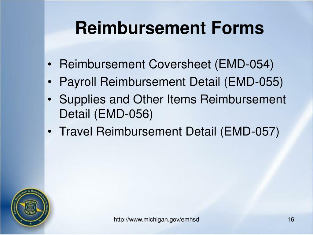 Reimbursement Forms