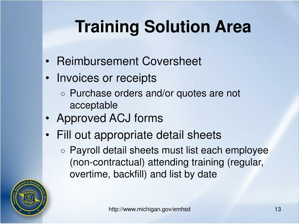 Training Solution Area