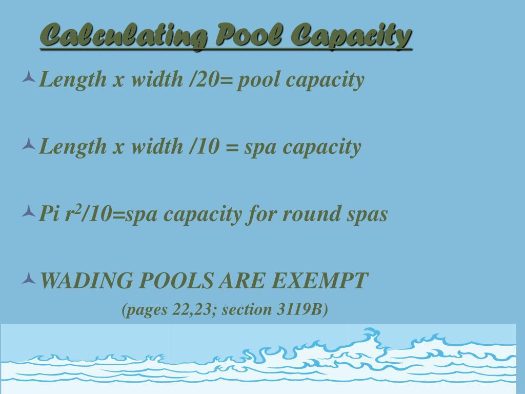Calculating Pool Capacity