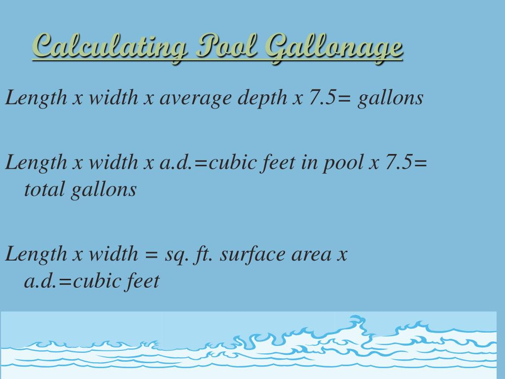 Calculating Pool Gallonage