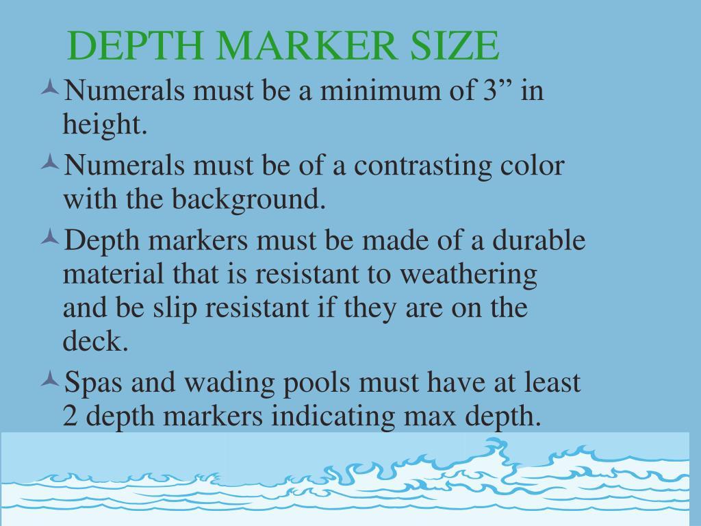 DEPTH MARKER SIZE