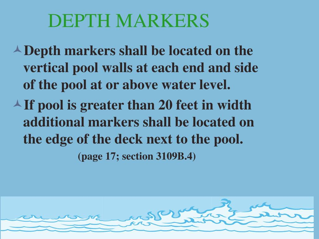DEPTH MARKERS
