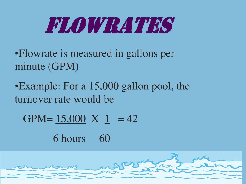 FLOWRATES