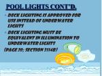 pool lights cont d