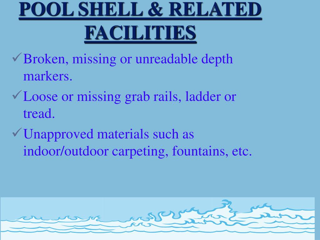 POOL SHELL & RELATED FACILITIES