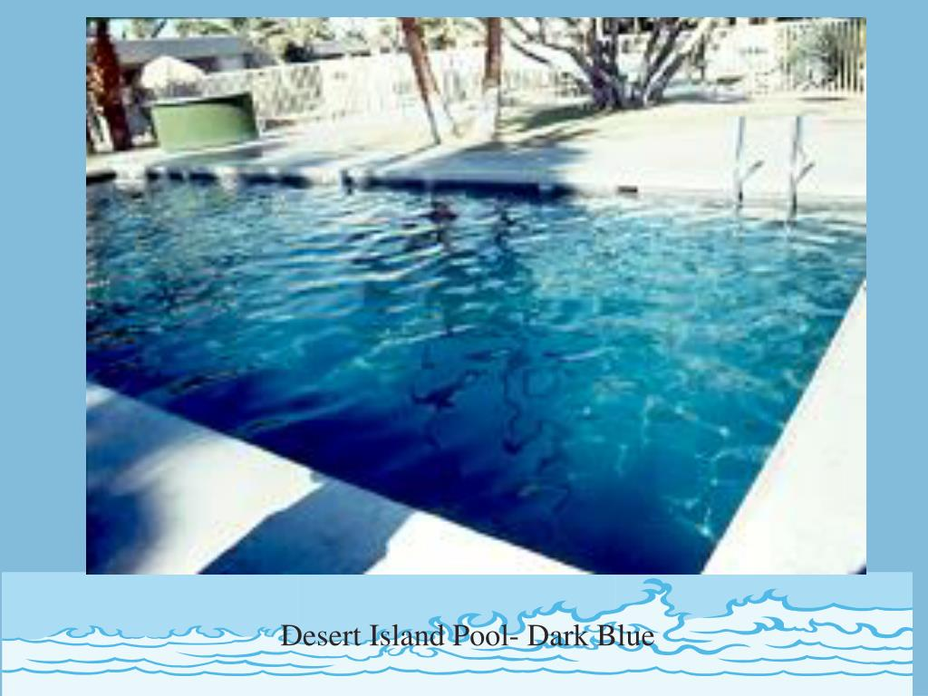 Desert Island Pool- Dark Blue