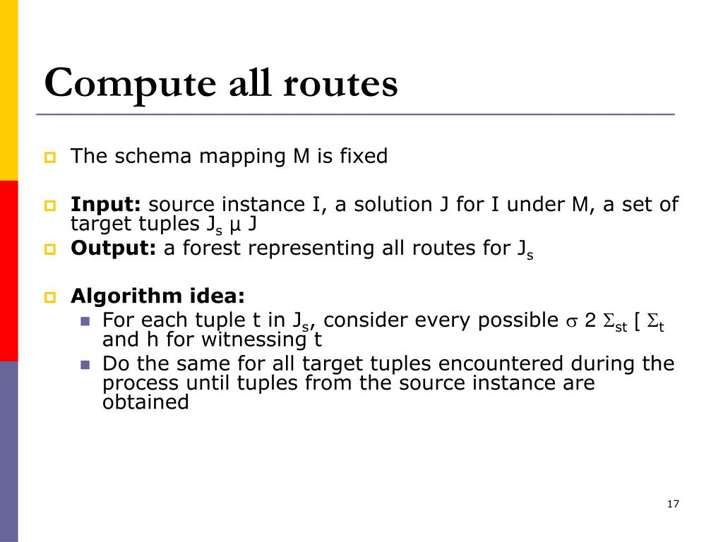 Compute all routes