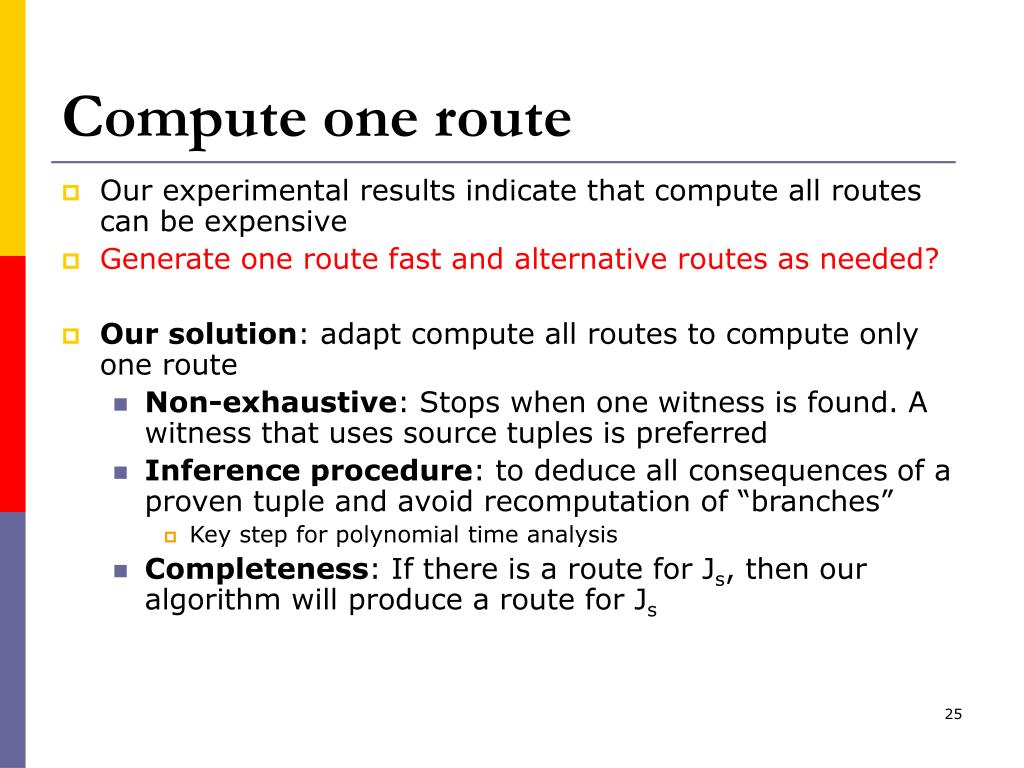 Compute one route