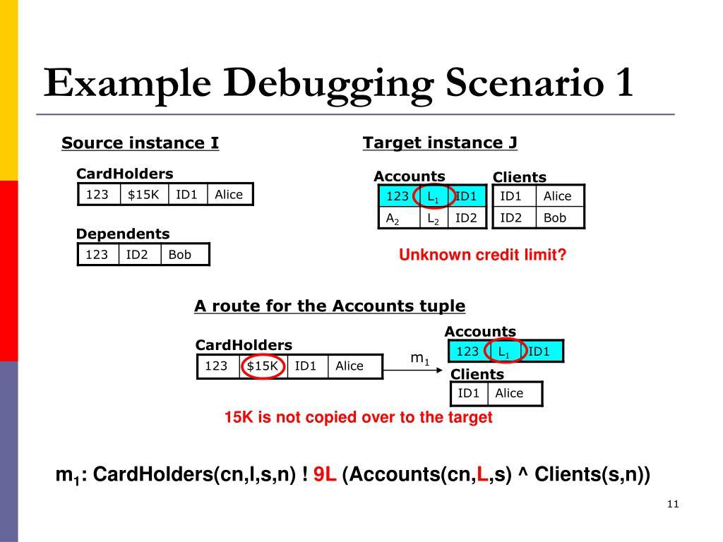 Example Debugging Scenario 1