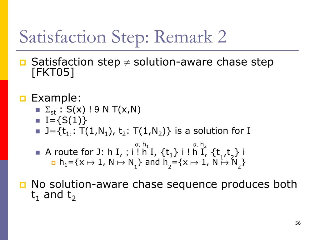 Satisfaction Step: Remark 2