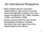 an international perspective