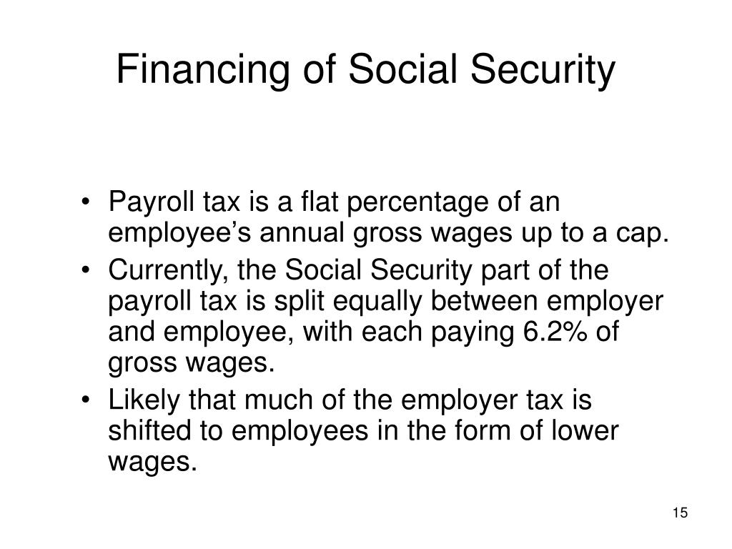 Financing of Social Security