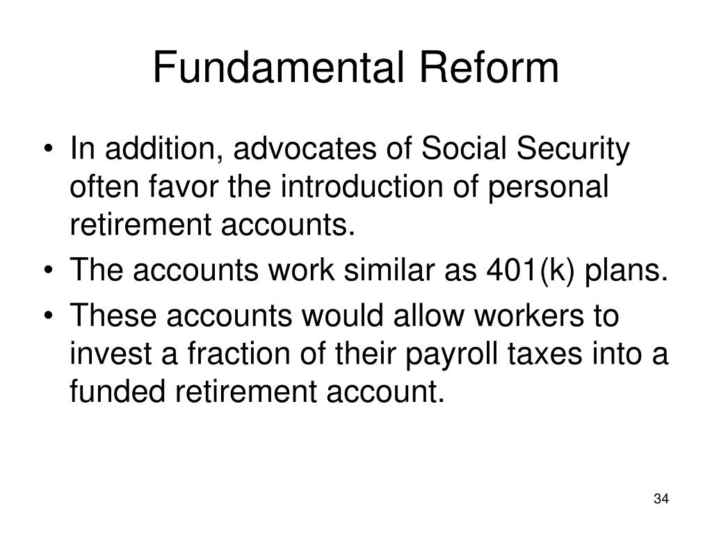 Fundamental Reform