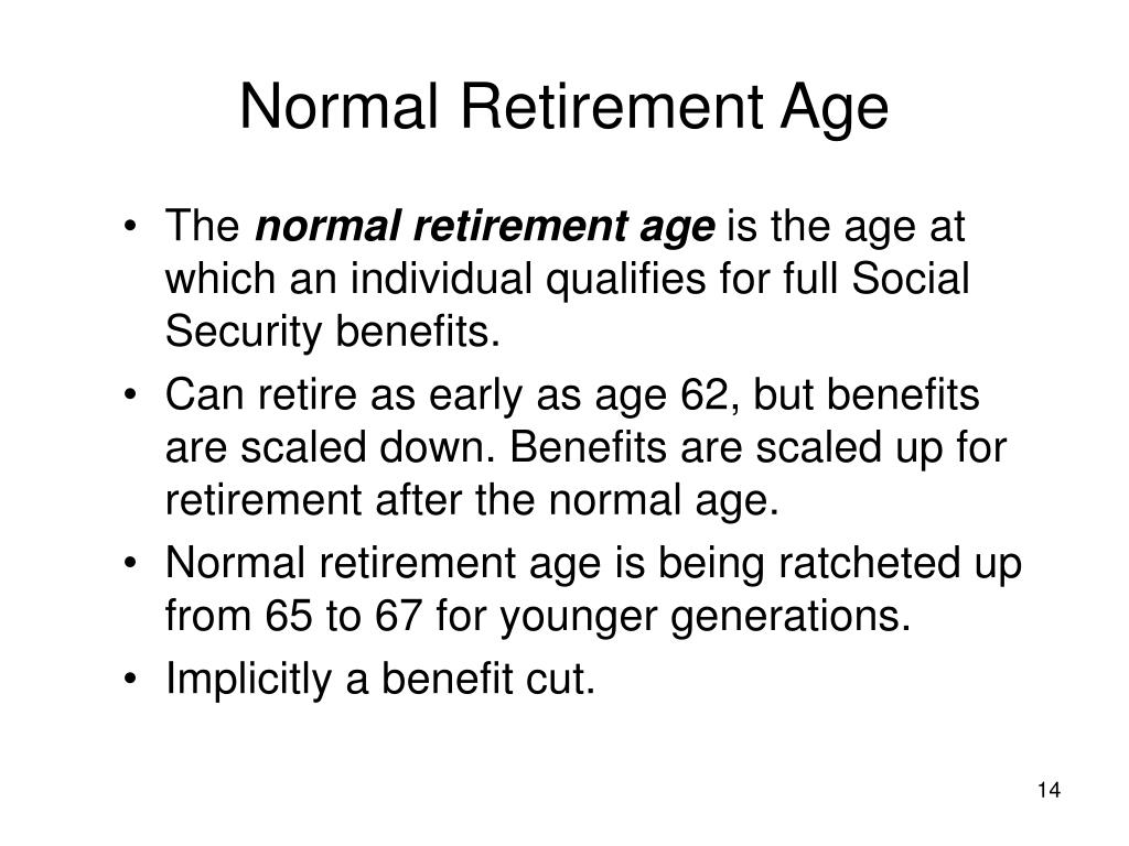 Normal Retirement Age