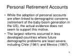 personal retirement accounts