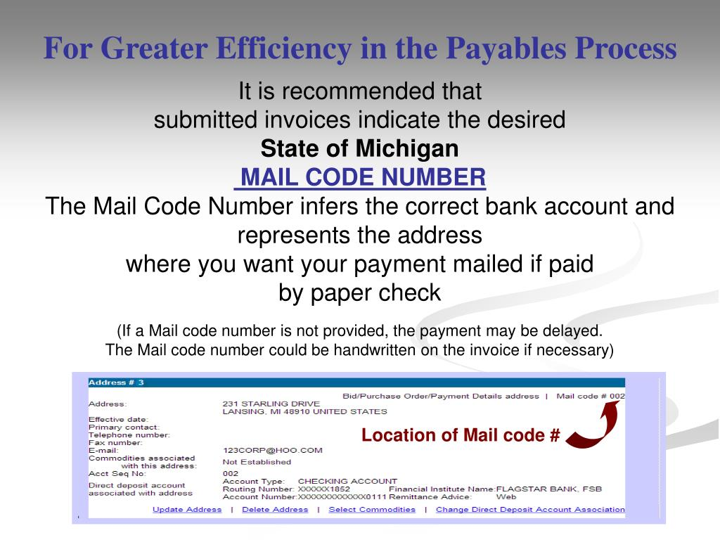 For Greater Efficiency in the Payables Process