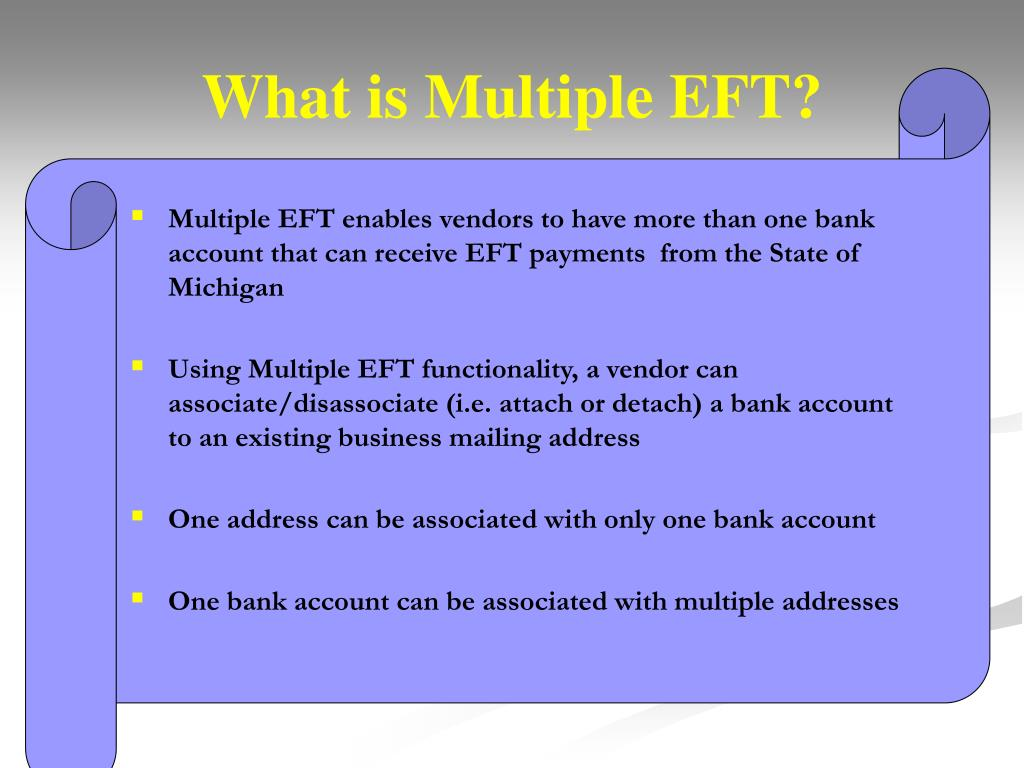 What is Multiple EFT?