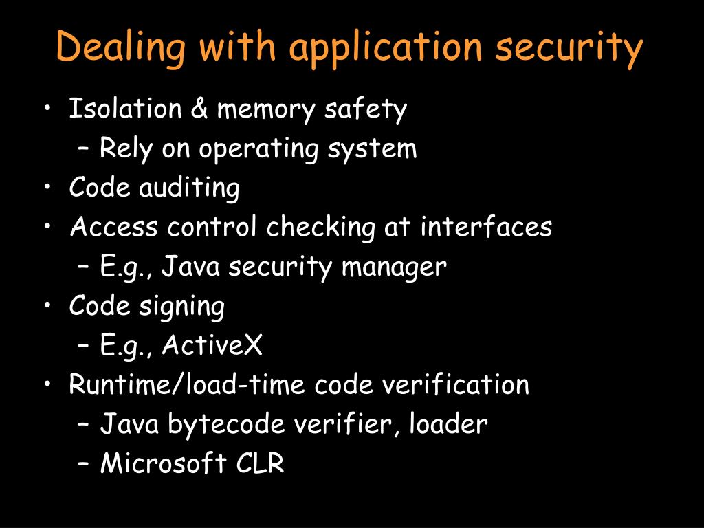 Dealing with application security