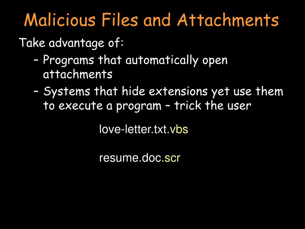 Malicious Files and Attachments