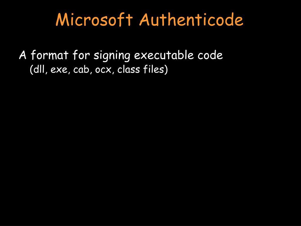 Microsoft Authenticode