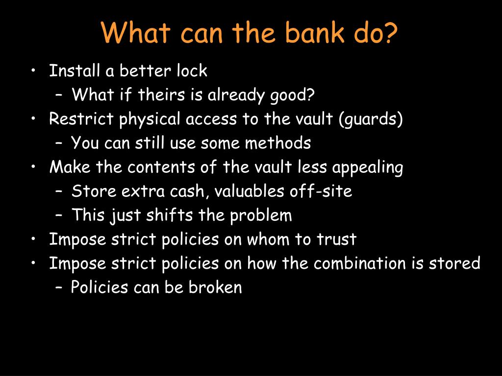 What can the bank do?